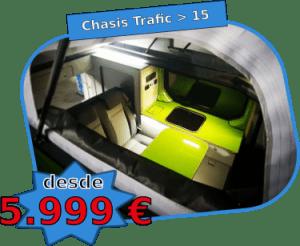 Techo elevable Trafic vivaro talento nv300