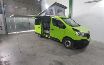 Camperización Renault Trafic verde completa