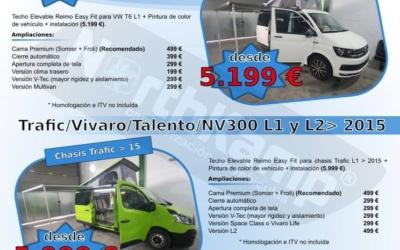 Oferta techos elevable furgoneta camper